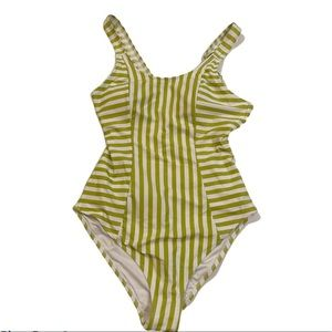 NWT CUPSHE Striped One Piece Bathing Suit